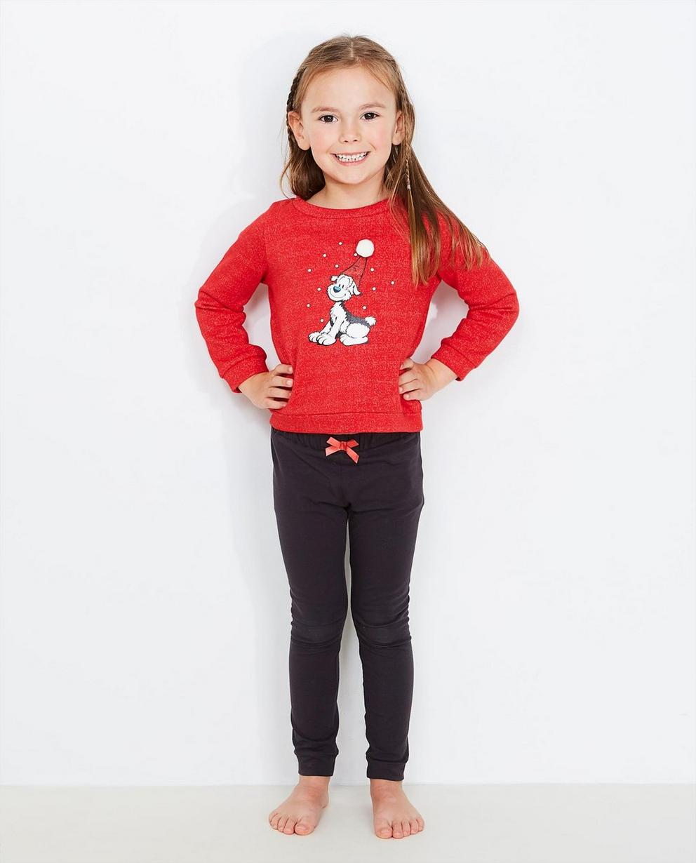 Roter Sweater mit Print - Samson - Samson
